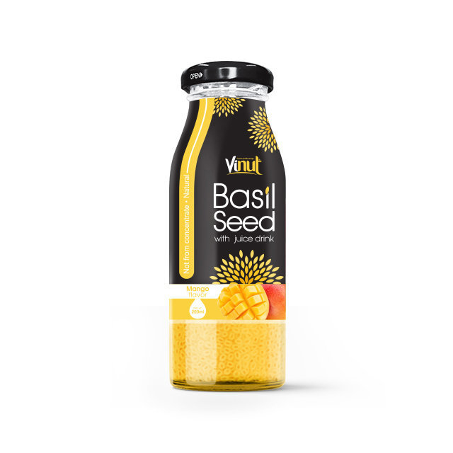 200ml_Glass_Bottle_Basil_seed_with_Mango_flavor