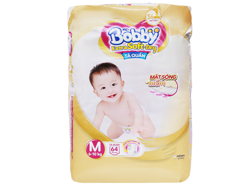 Bobby Baby Diaper Pants Extra Soft Dry M64 (6-10kg)